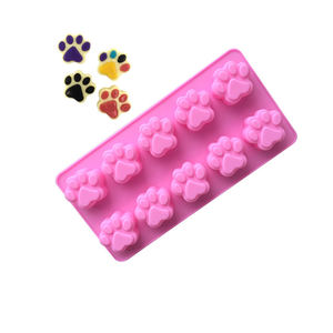 125 silicone cake.3d soap mold 10 cavity cat feet shape pudding mold cheese silicone mold cake decorating
