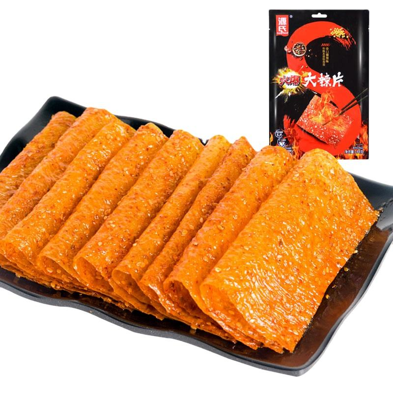148g Genji Food Hot Spicy Beancurd Slice chewy soy bean sheet comida soybean spicy beancurd sheet snack latiao OEM healthy food