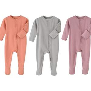 3pcs/pack baby romper girl set rib cotton newborn baby clothing set infant rompers pajamas with mitten