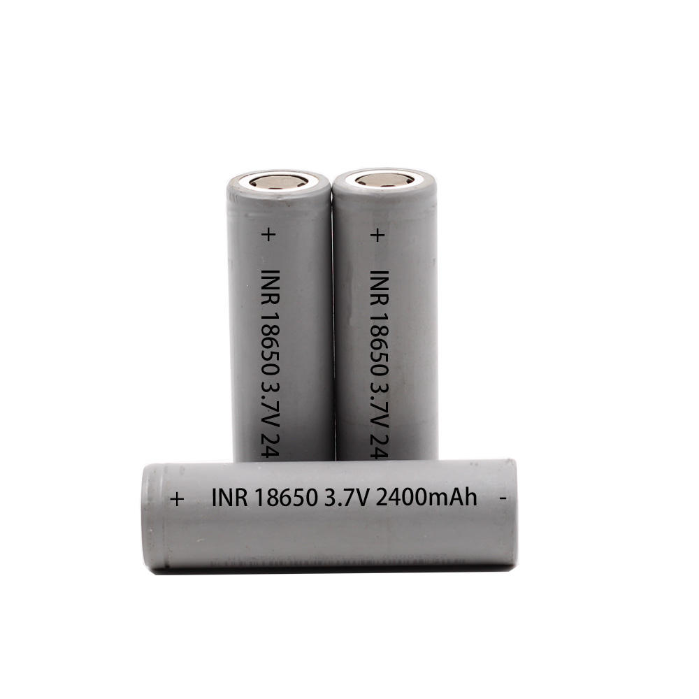 BIS approved lithium ion battery Rechargeable 3.7V 18650 2400mAh cylindrical battery for LED devices