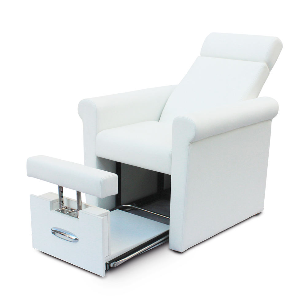 Cheap Price Modern Beauty Nail Salon Furniture Reclining Portable No Plumbing White Foot Spa Manicure Pedicure Chair
