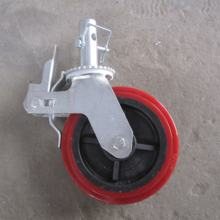 5 6 8 10 12 inch light and heavy duty industry rubber wheel for mobile adjustable with brake scaffold wheel caster