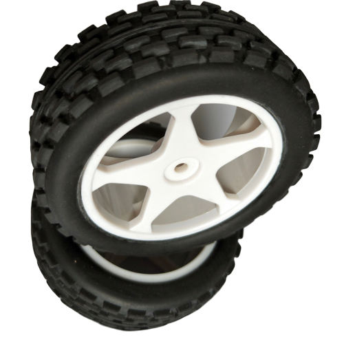 High Quality Durable Black Toy Car Wheel Manufacturer Rubber Tyres For Robots Model