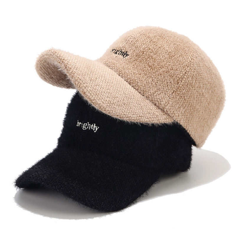 New design high quality ladies winter warm wool baseball cap with embroidery sport hat