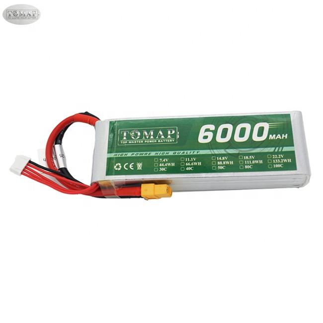 Remote Control 30C 100C 14.8V 4S Rc Batteries 6S Li Ion Polymer Battery Pack 2S 7.4V 6000Mah 5000Mah Lipo Battery 3S 11.1V