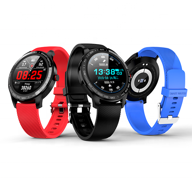 Round Screen1.3 inch Reloj Inteligente L9 Smart Band Watch Waterproof Heart Rate Fitness Smart Watch 2019