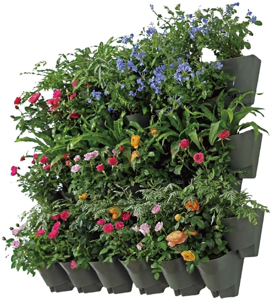 Garden Suppliers Green Indoor Outdoor Self Watering Vertical Living Wall Mounted Planter Flower Pot in Bulk