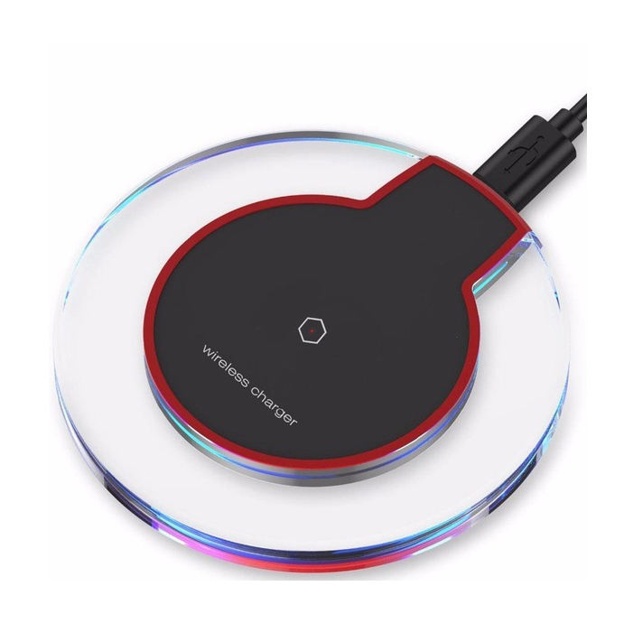 Free Sample K9 Universal Crystal Qi Wireless Charger With LED Light Mobile Phone Wireless Charging