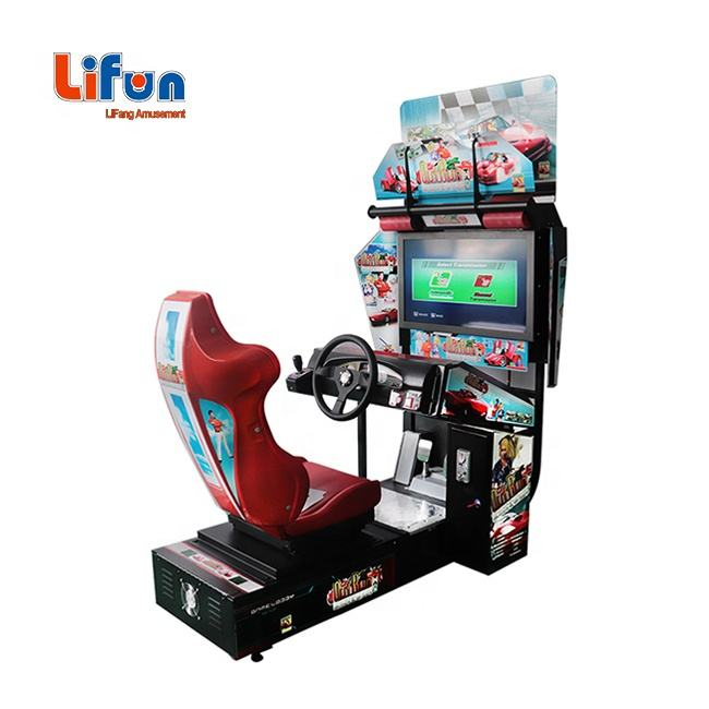 Top Sale Cheap Price Coin Operated Video Driving Outrun Simulator Arcade Racing Car Game Machine For Game Zone