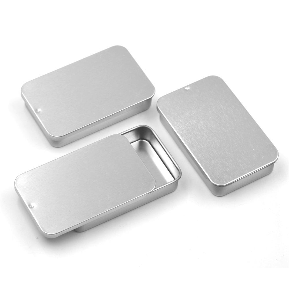 Small Pretty Metal Sliding Lid Tin Box With High Quality