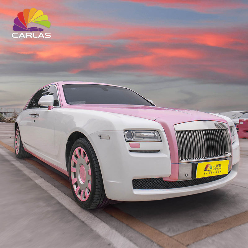 Carlas Self Adhesive Vinyl Car Body Wrapping Vinil Embrulho Carro Rosa