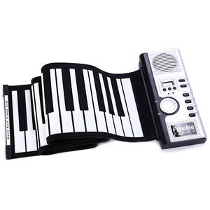 Foldable Soft Keyboard Electronic Piano Roll Up MIDI Flexible Piano 61 Keys Silicone Portable For Sale
