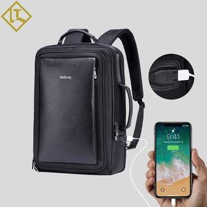 Waterproof laptop anti-theft custom leather rucksack backpack bags travel for men