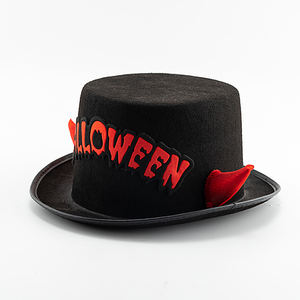Custom Your Own Logo Halloween Horns Lincoln Black Top Hat