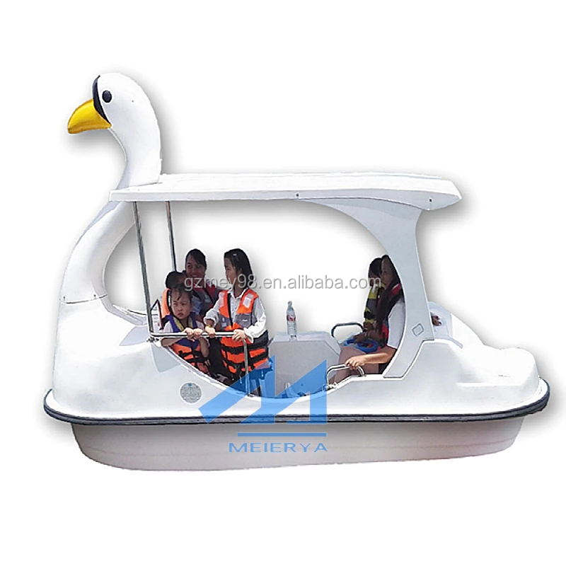 Low price Water amusement park fiberglass used swan pedal boats for sale