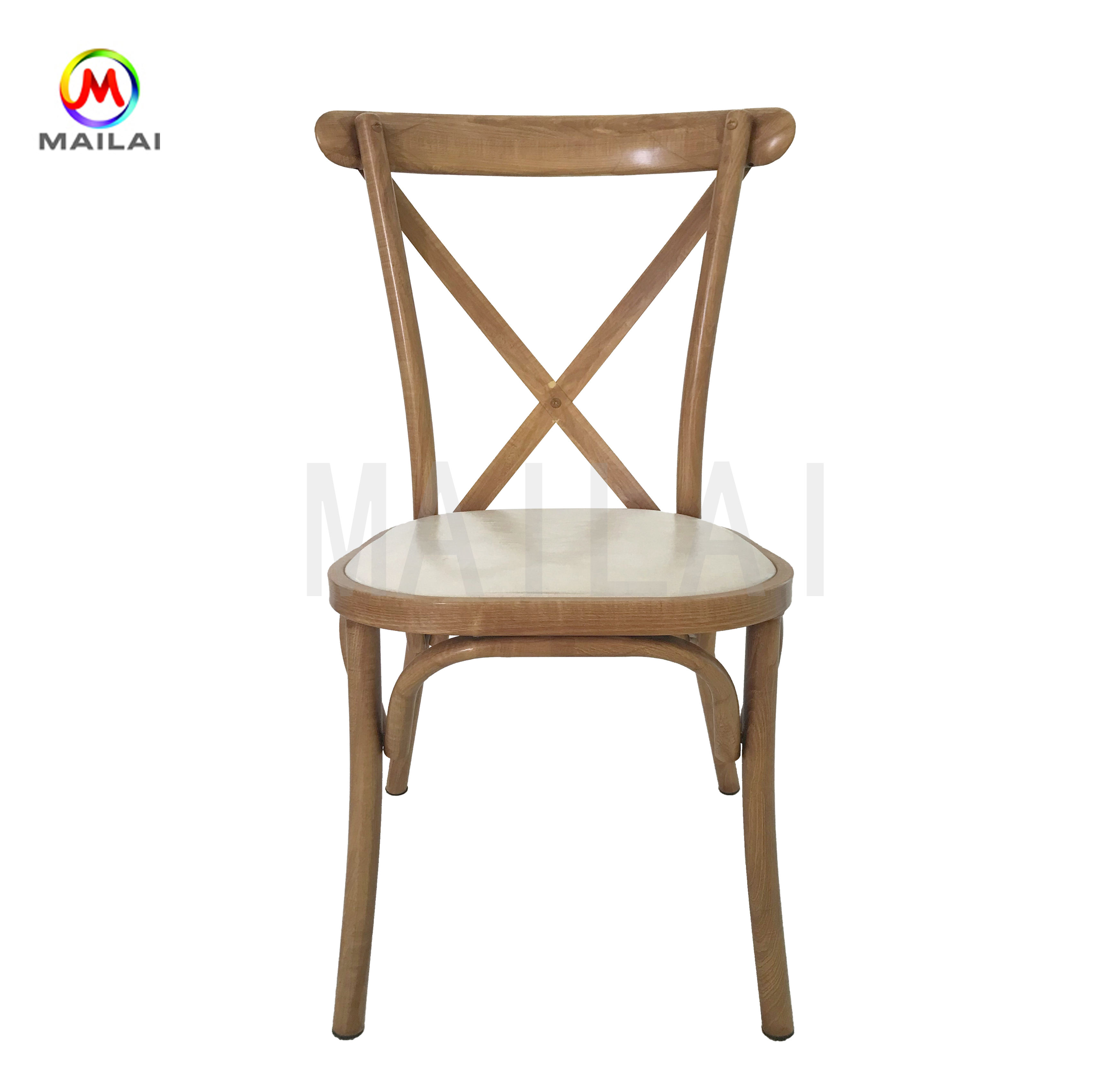 Wholesale Antique Rustic Stackable Cross Back Chair X Back Chair