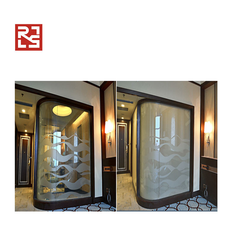 Adhesive Smart Cool Film Glass for Toilet Partition