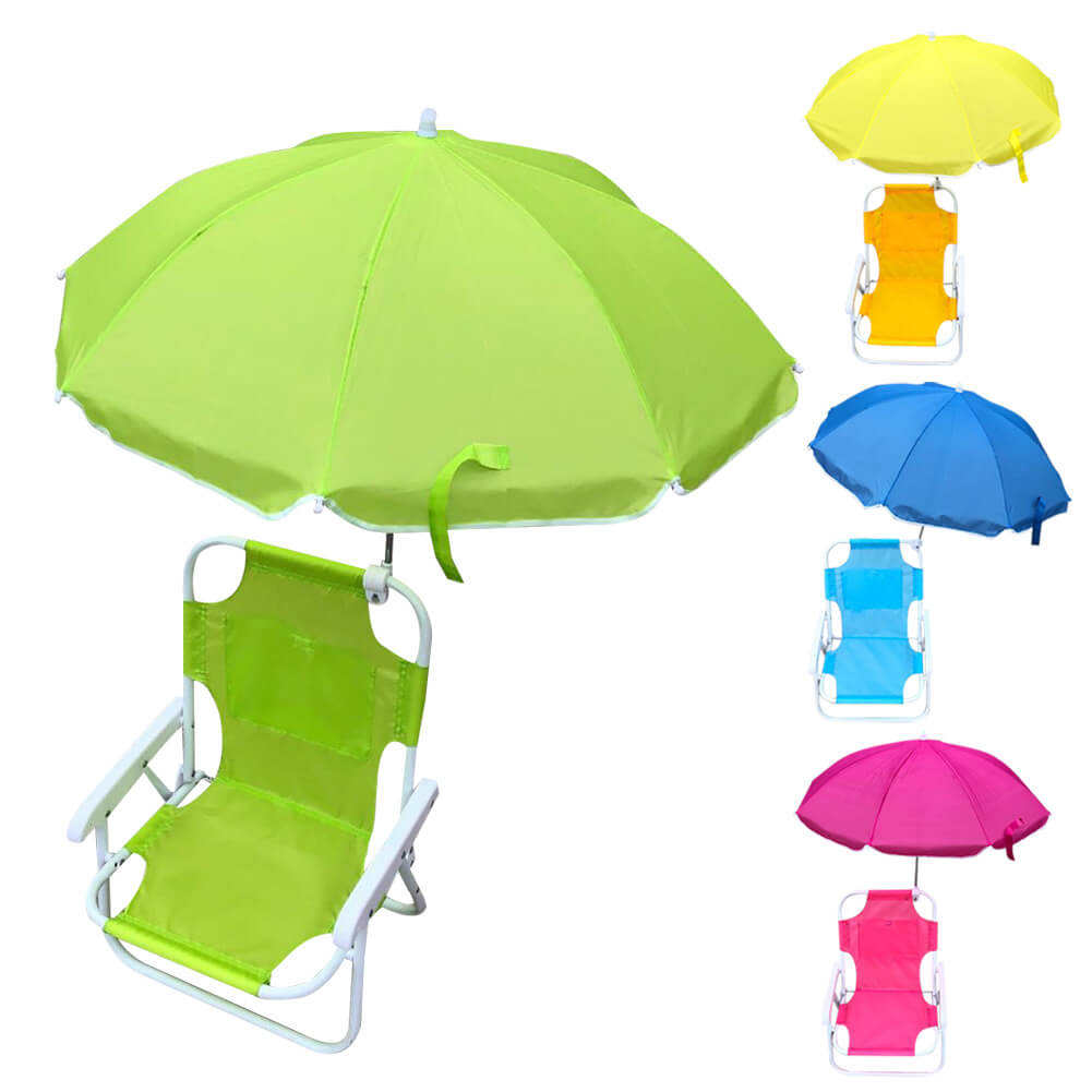 Outdoor Beach Folding Chair with Sunshade Multifunctional Portable Recliners for Children