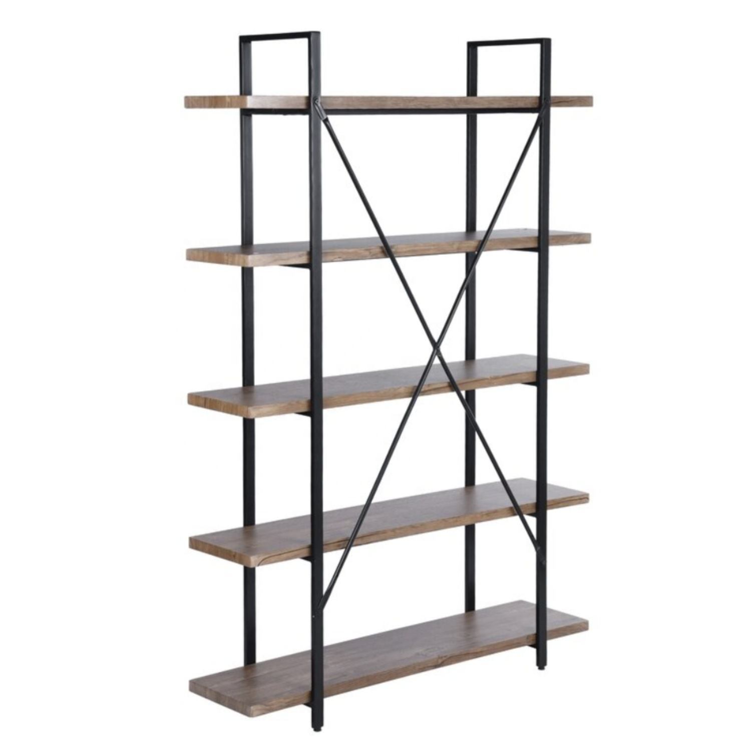Bookshelf/ Bookcase / Display Shelf Industrial Design Wooden and Metal Solid Wood,solid Wood Living Room Furniture Modern
