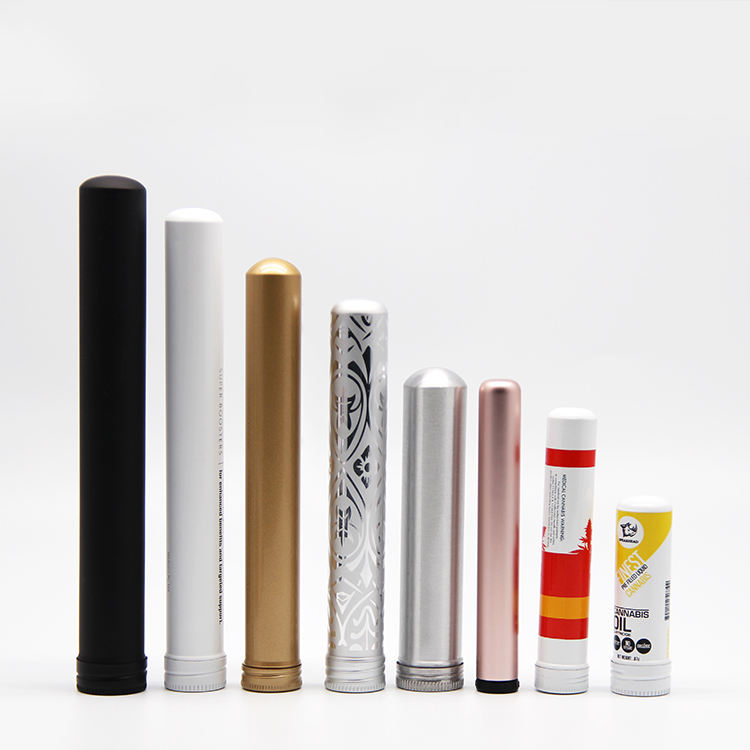 Single metal Aluminum portable cigar tube packaging travel tube