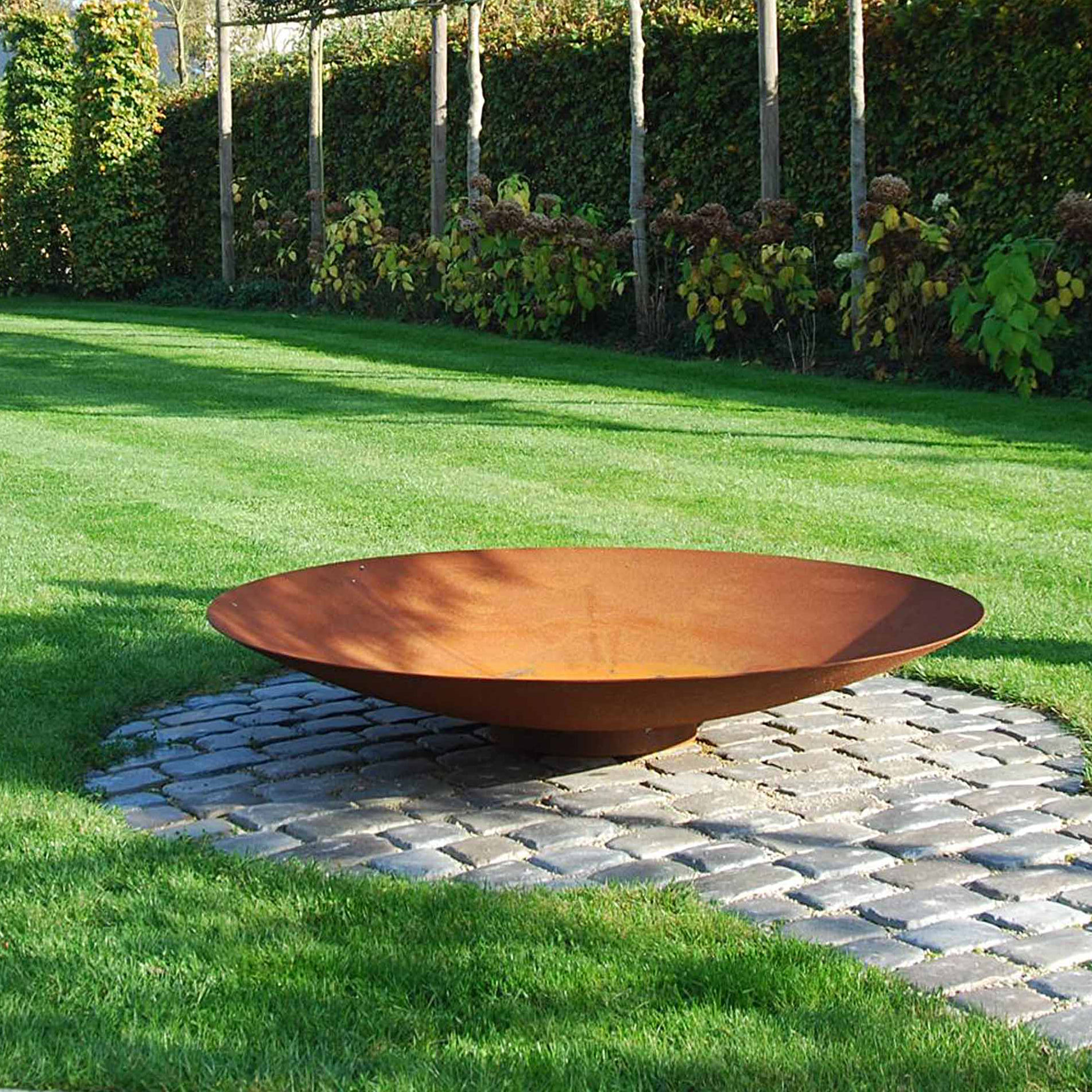 Decorative&Warmth Outdoor Art Corten Steel Fire Pit