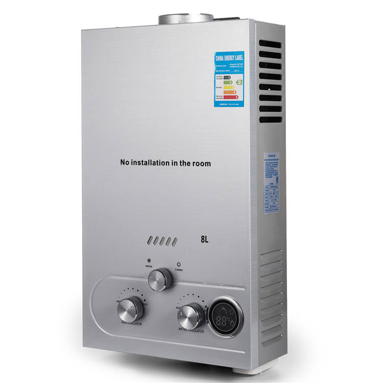 Auto-protection Natural Gas 8L Tankless Instant Hot Water Heater