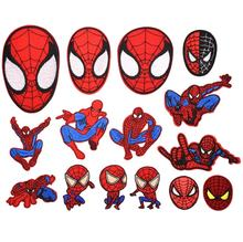 Hot sale embroidered cartoon series spider man patches with iron on backing