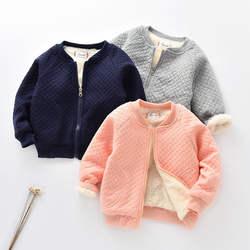 Casual kids baby outwear jacket sweatshirt fleece zipper hoodies coats for 1-4 years children