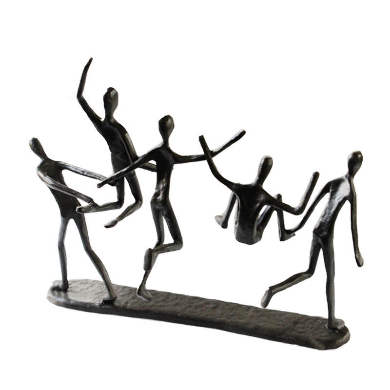 Cast Iron [ Home Decor ] Iron Figurine Hand-crafted Metal Art Sculpture Named