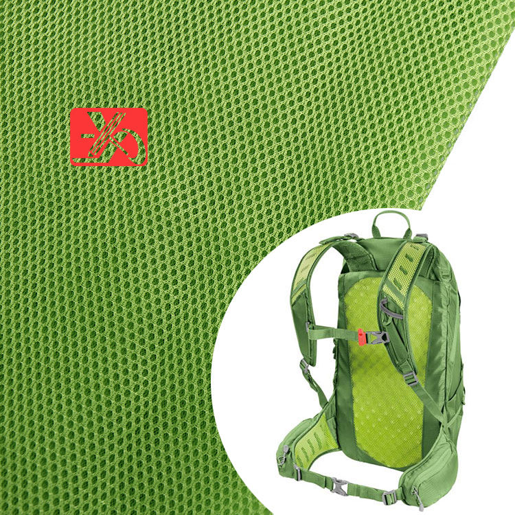 Sandwich Mesh Backpack School Bag Fabric Material 100 Polyester Tricot 75D Mesh Fabric For Bags