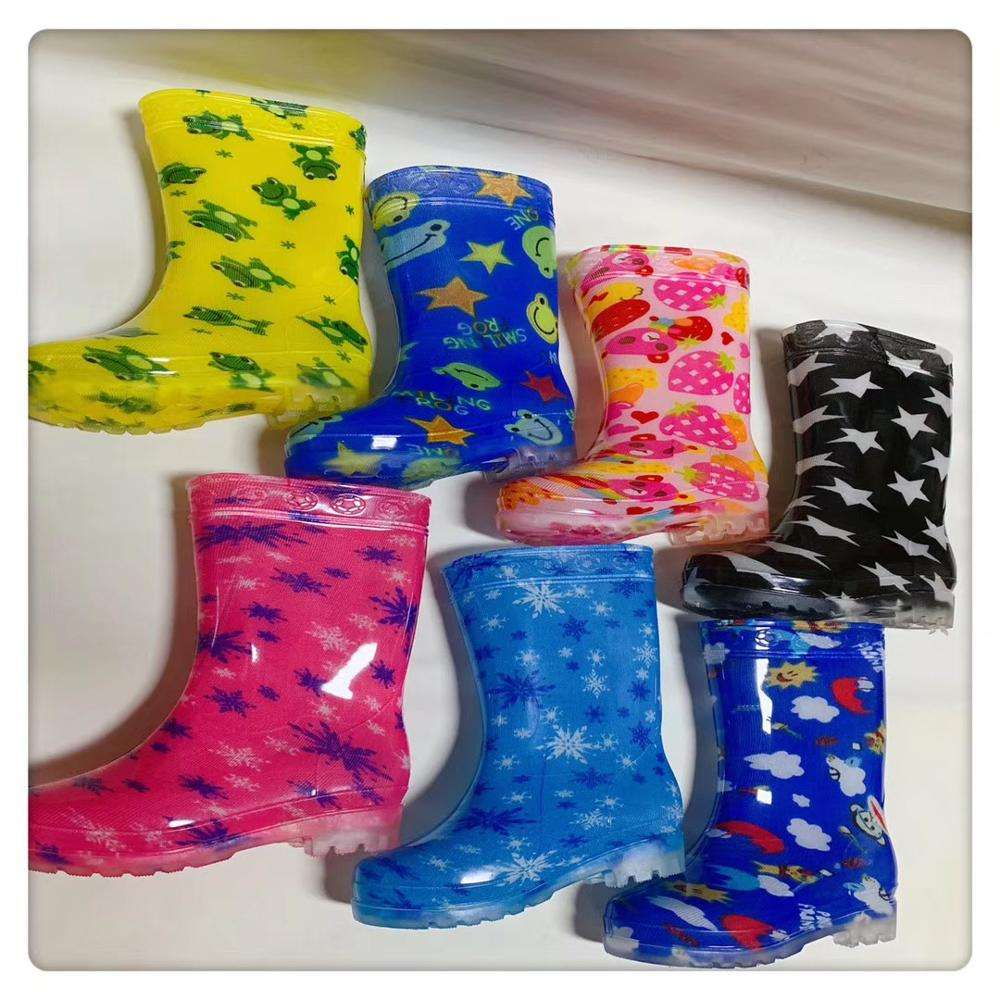 factory unisex cheap waterproof transparent pvc plastic rainboots kids rain boots for children