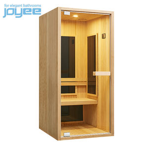 JOYEE Commercial 1-3 person indoor Sauna Far Infrared red cedar home full spectrum wood with sauna infrared massage wooden room