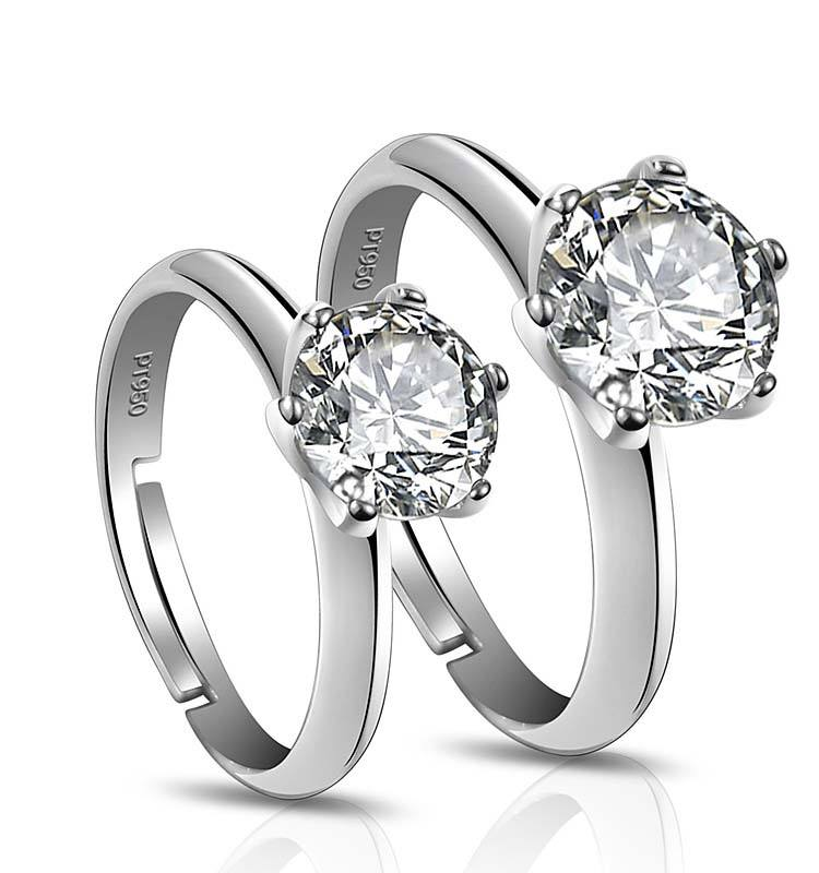 Fashion women diamond wedding jewelry sterling silver 925 rings