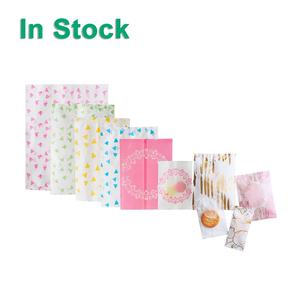 Design Plastic Customized Packaging Transparent Plastic Bags Multiple Design Fin Seal Hairline Finish Laminated Plastic Heat Sealable Small Pastry Cookies Candy Packaging Pillow Bag