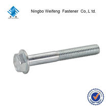 DIN 6921 high quality standard hex flange bolt hexagon head bolt and fastener