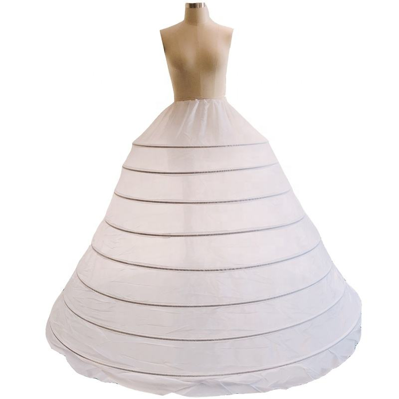 8 hoops steel rings petticoat Big Petticoat for ball gown for wedding dress the length around 120cm sayabridal