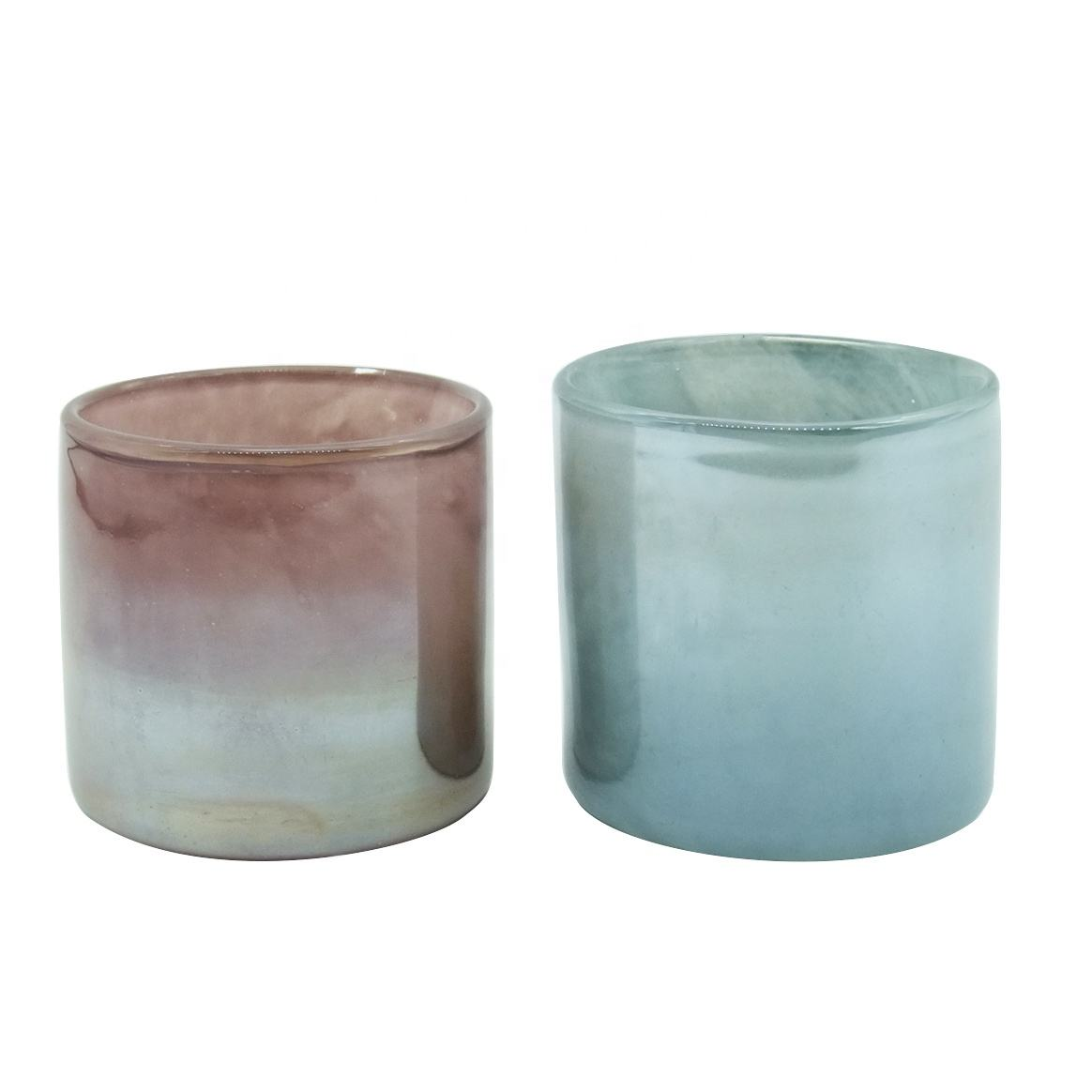 Haodexin luxury round candle holders custom glass candle holders for parties