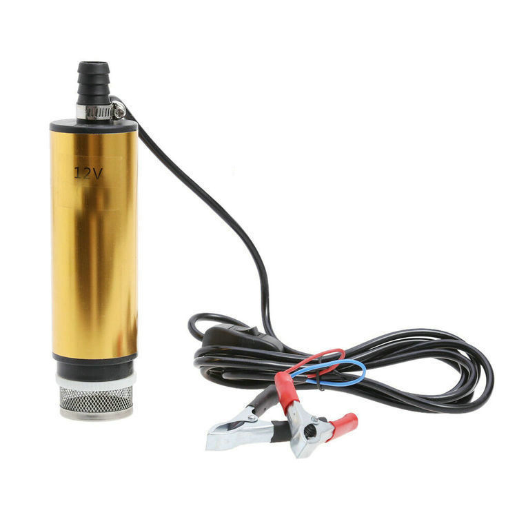 New Portable 12v 24v Dc Fuel Diesel Engine Transfer Pump Small Submersible Oil Water Pump