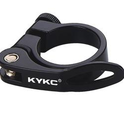 KYKC parts Wholesale road bicycle accessories bike seat clamp with quick release 28.6mm 31.8 34.9mm  bike carbon seatpost clamp