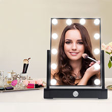 High Quality Hollywood Style Led Vanity Makeup Mirror With 12 Dimmable Bulbs