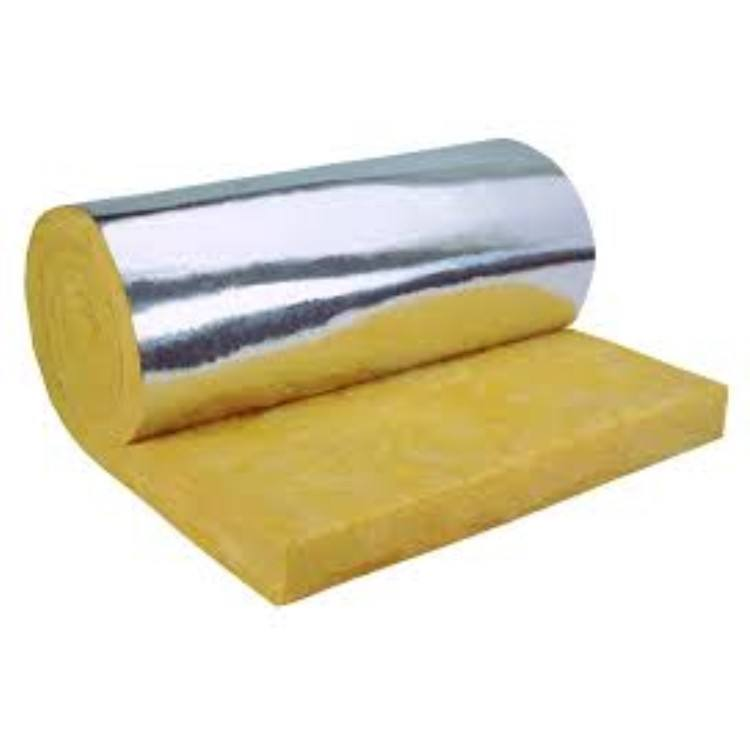 Fiberglass Insulation Blanket/ Rolls Glass Wool With Aluminium Foil