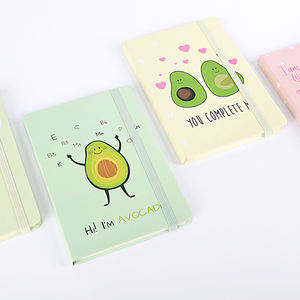 Kartun Alpukat Korea Mini Cute Notebook, Hot Jual Elastis Kawaii Stationery Hard Cover Notebook
