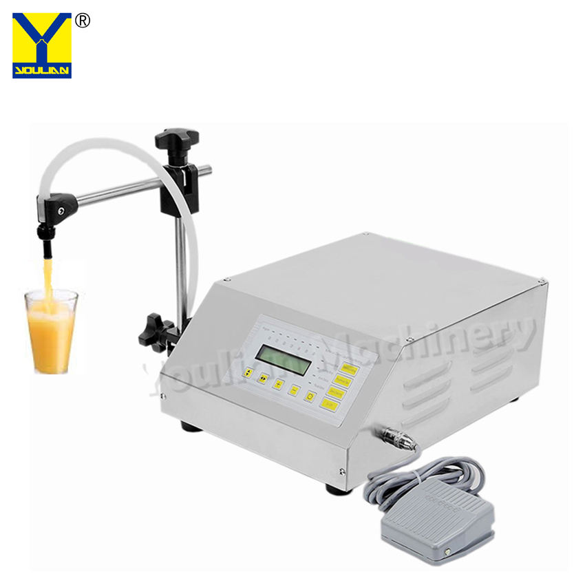 GFK-160 Semi Automatic 2-3500ミリリットルDigital Control Water Juice Milk Filler Liquid Bottle Filling Machine
