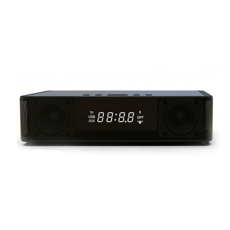 LED Screen Loudspeaker Wireless Bluetooth Speaker with Alarm Clock and Display Home Theater