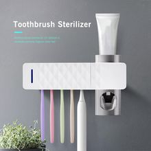 3 in 1 UV Light Ultraviolet Toothbrush Sterilizer Toothbrush Holder Automatic Toothpaste Squeezers Dispenser Oral Care Dropship