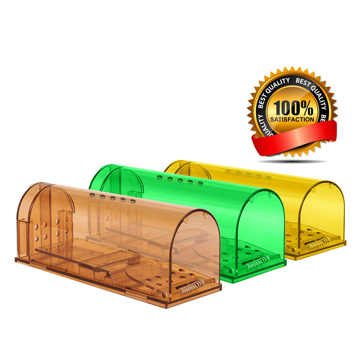 2020 Factory Supply Plastic Herbruikbare Live Mouse Trap Geen Doden Smart Automatische Muis Tap Humane Rat Trap Cage