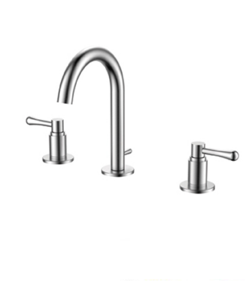 3 hole dual handle best price high quality basin faucet face water tap wash clean cold hot water switch bathroom toilet useful