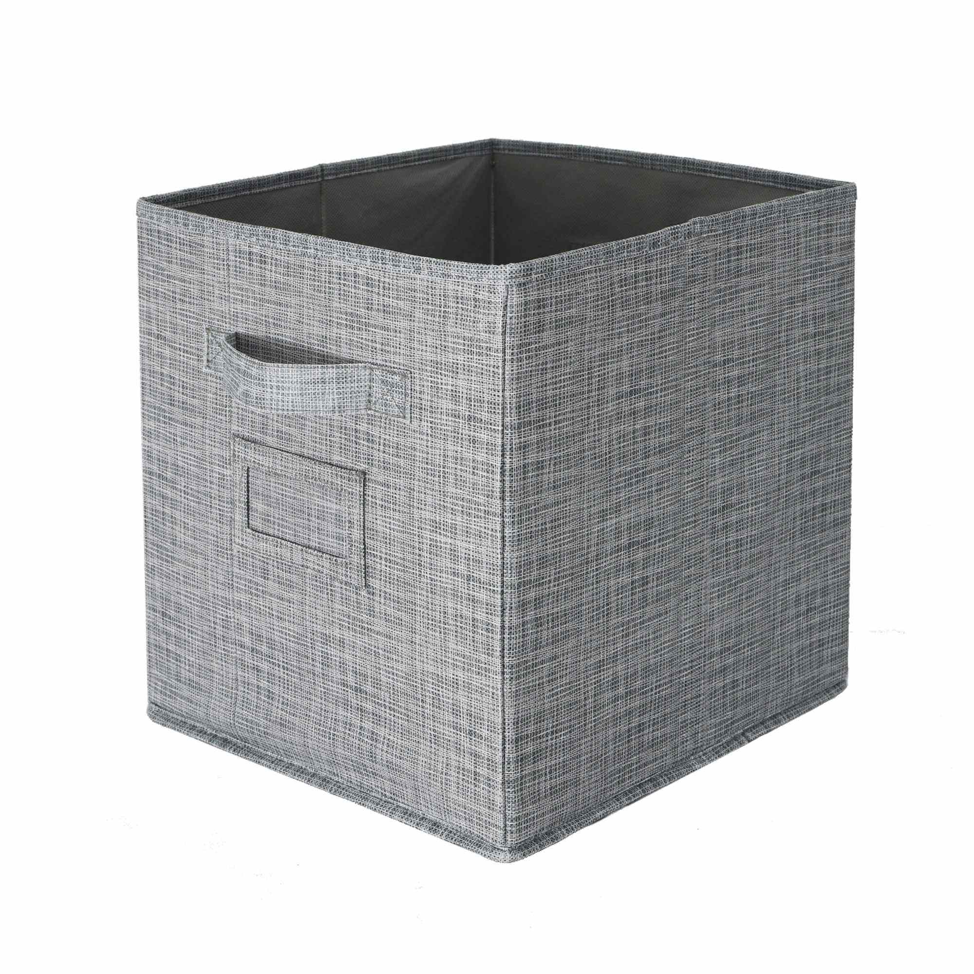 Fashion small Pack of 3 Foldable Natural Soft Storage Cubes Non woven Convenient DIY Storage Box