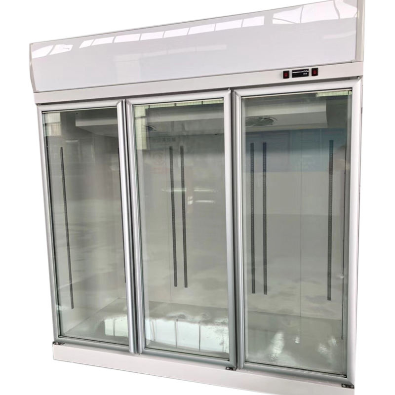 New Design Upright pepsi 3 glass door commercial red bull refrigerator freezer price in China