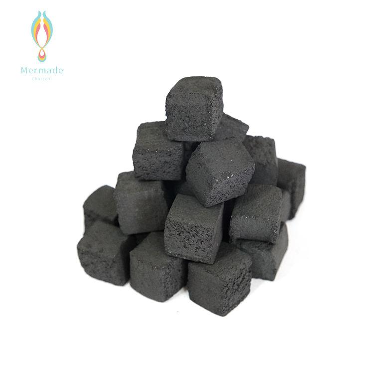 Custom Quick Lighting Advanced Philippines Black Cube Shape Shisha Hookah Natural Dry Coconut Shell Charcoal